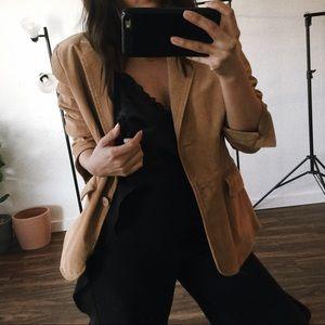 Jackets & Blazers - Suede Tan Jacket